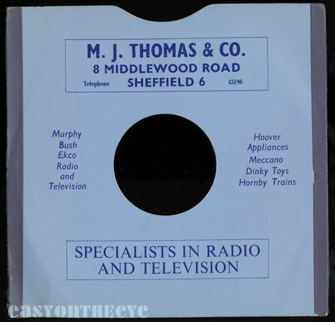 M J Thomas Dinky Records Sheffield Middlewood road